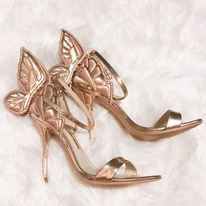 Sophia Webster Chiara heels rose gold